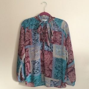 Coldwater Creek Flowy Button Up Blouse
